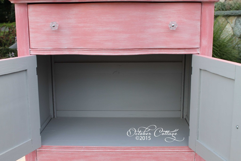 Pink set changing table inside wm