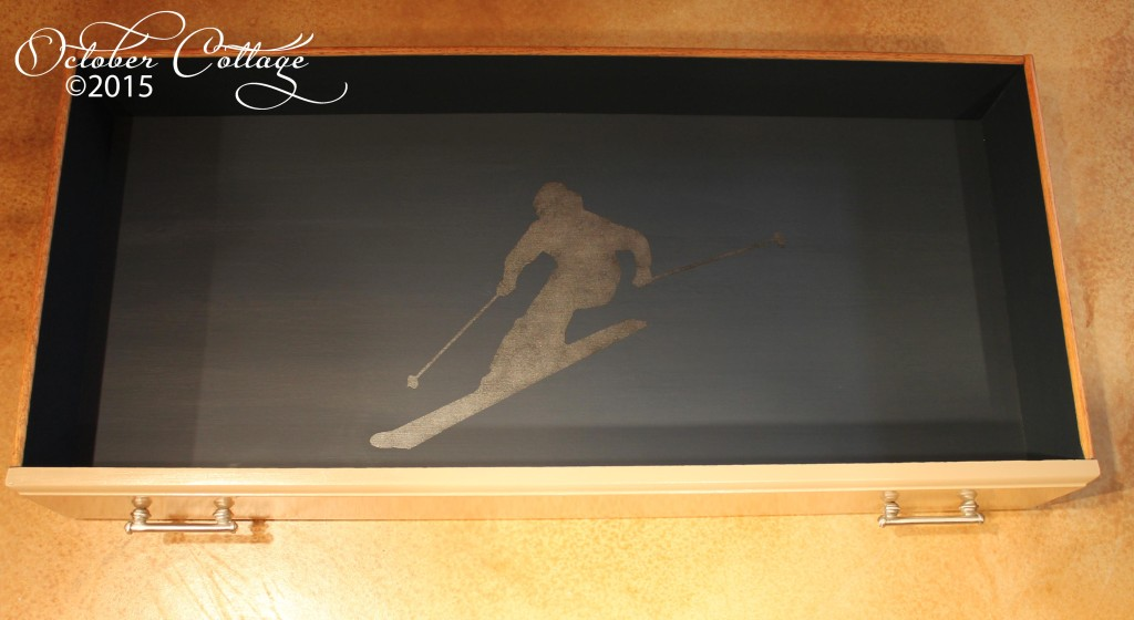 Custom dresser skier drawer IMG_2185