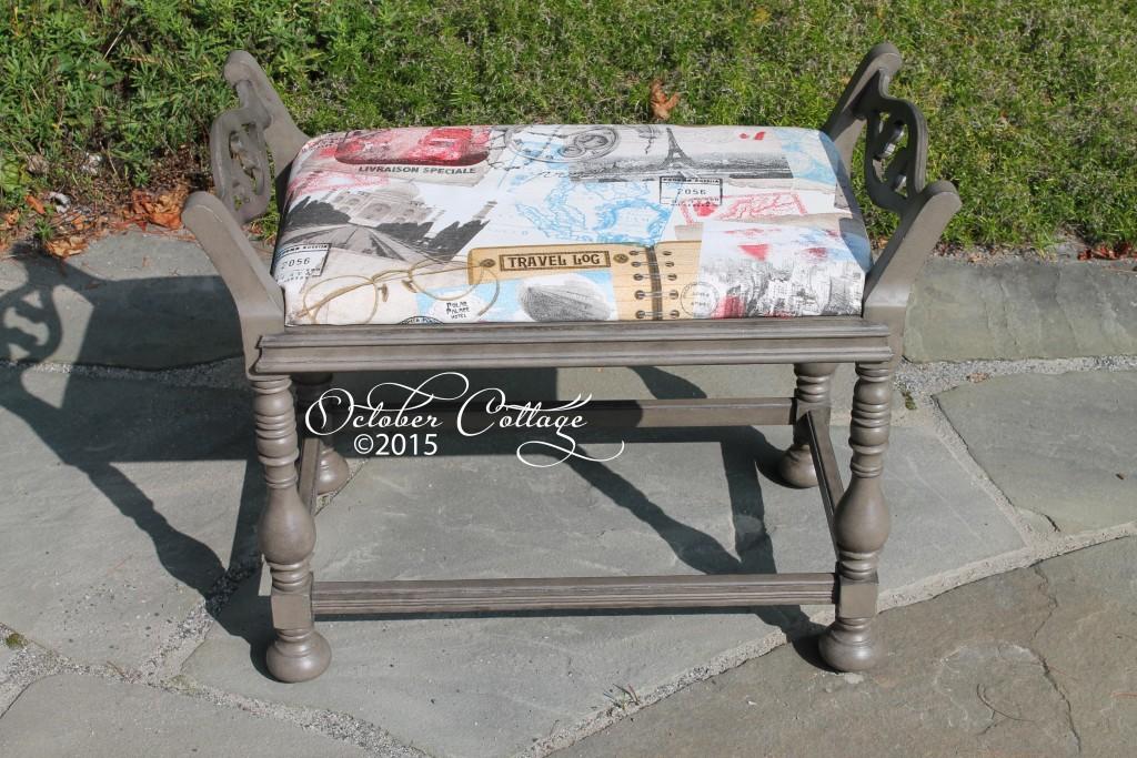 Upholstered bench raised sides IMG_1528