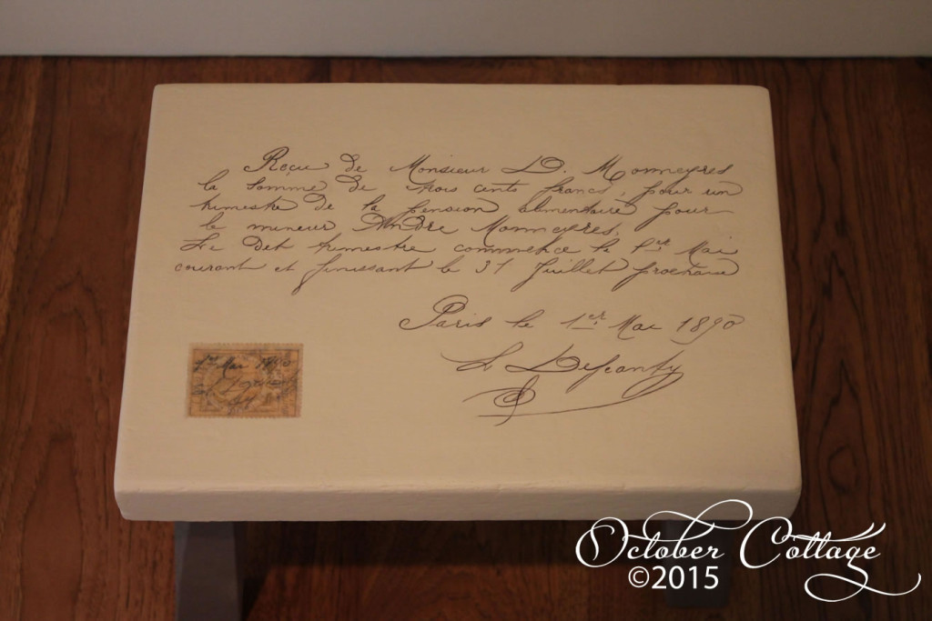 French letter stool detail IMG_0927