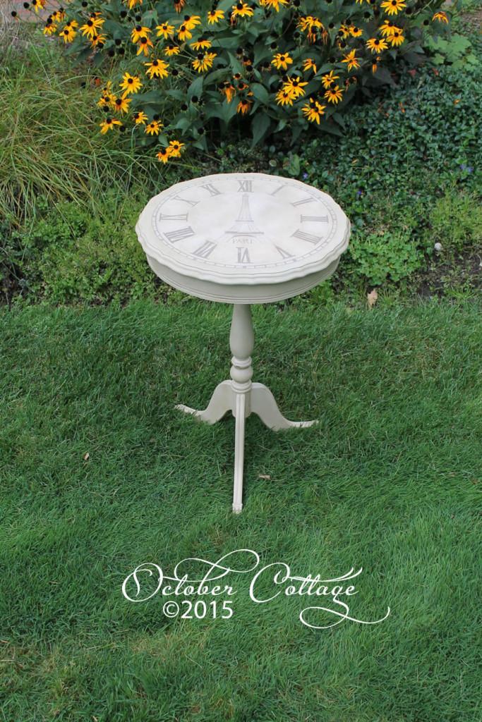 White Paris clock table IMG_1056
