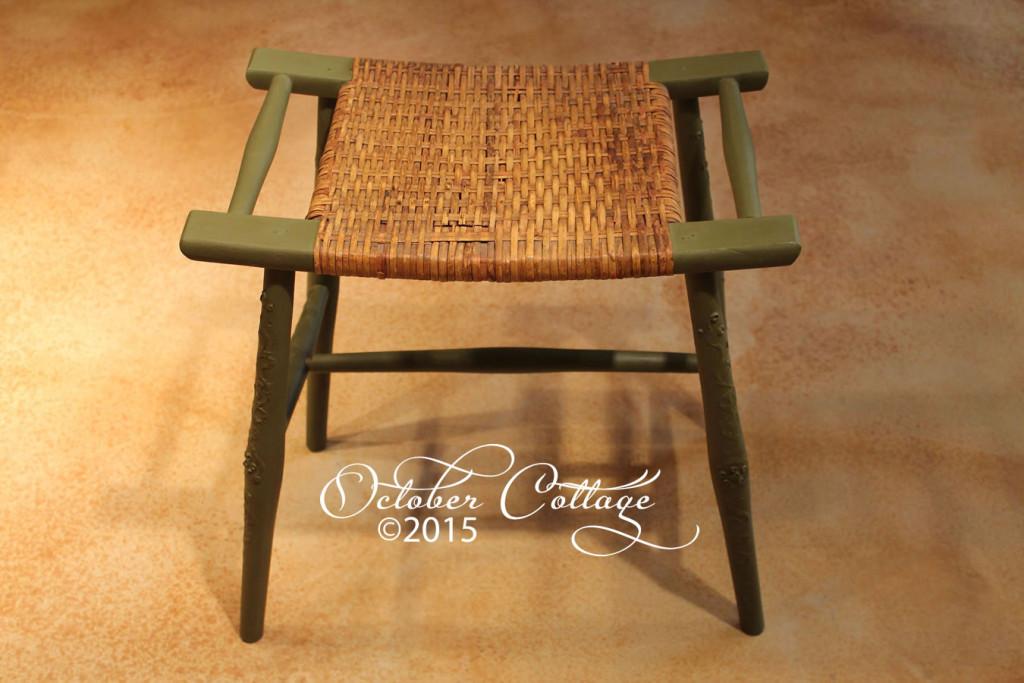 Wicker stool IMG_0750